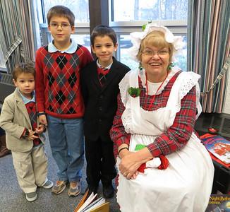 The boys with Mrs. Santa