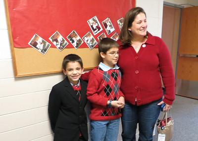 Carson, Austin and Amanda waiting to see Santa