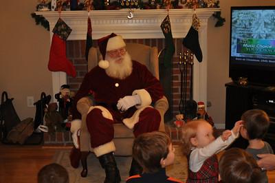 Santa visit at home 2010