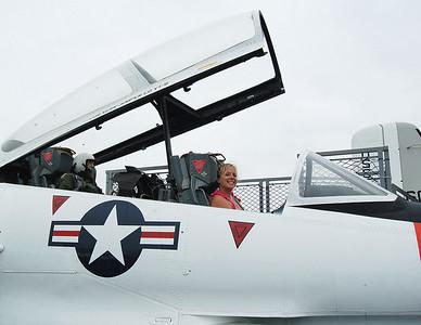 Sara Clemons on USS Midway 2008
