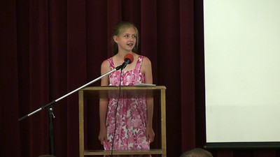 Sara presents the poem she wrote in English class at graduation (this is a video - click the play graphic to start)