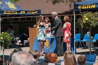 Sara getting her diploma
