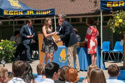 Kelsey getting her diploma