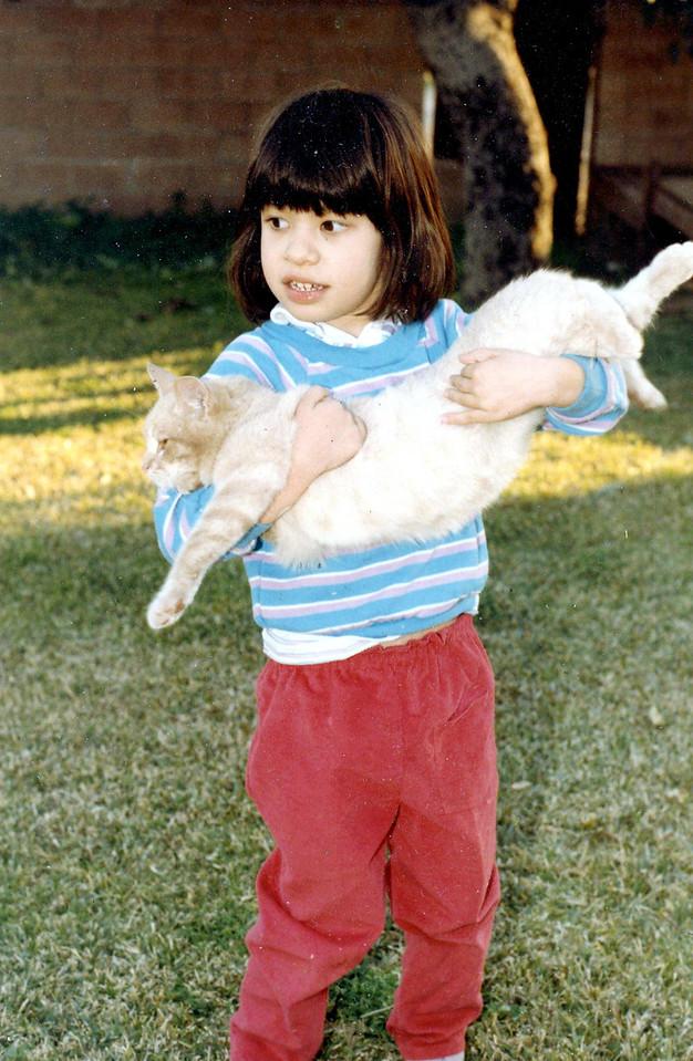 Sara January 1985 with Dusty