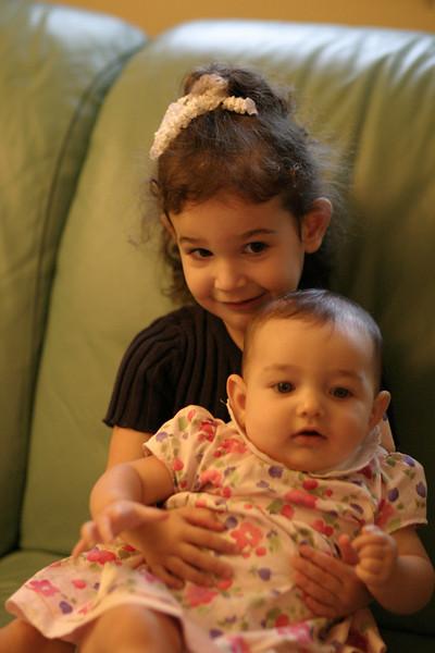 Sara and Liora candid