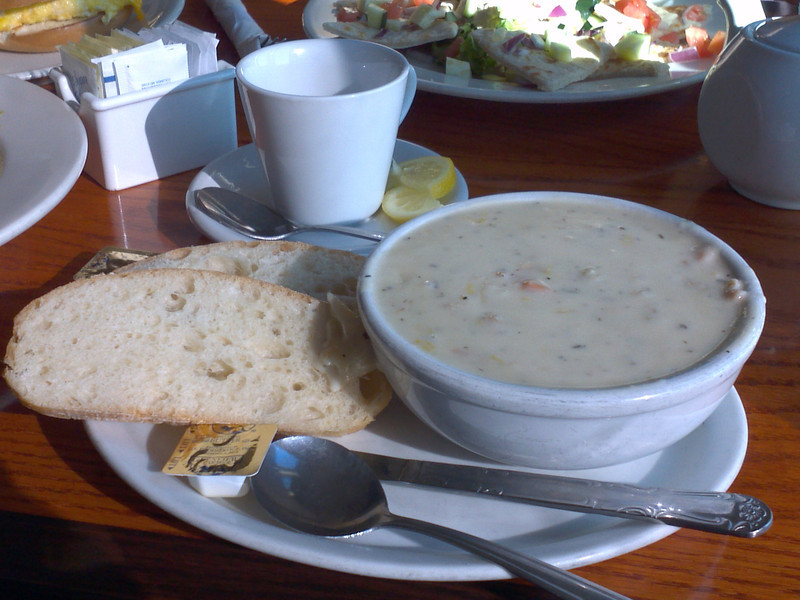 20110613 Clam chowder at PPM
