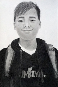 2018-02-08 Portrait of Nathan entered in art show