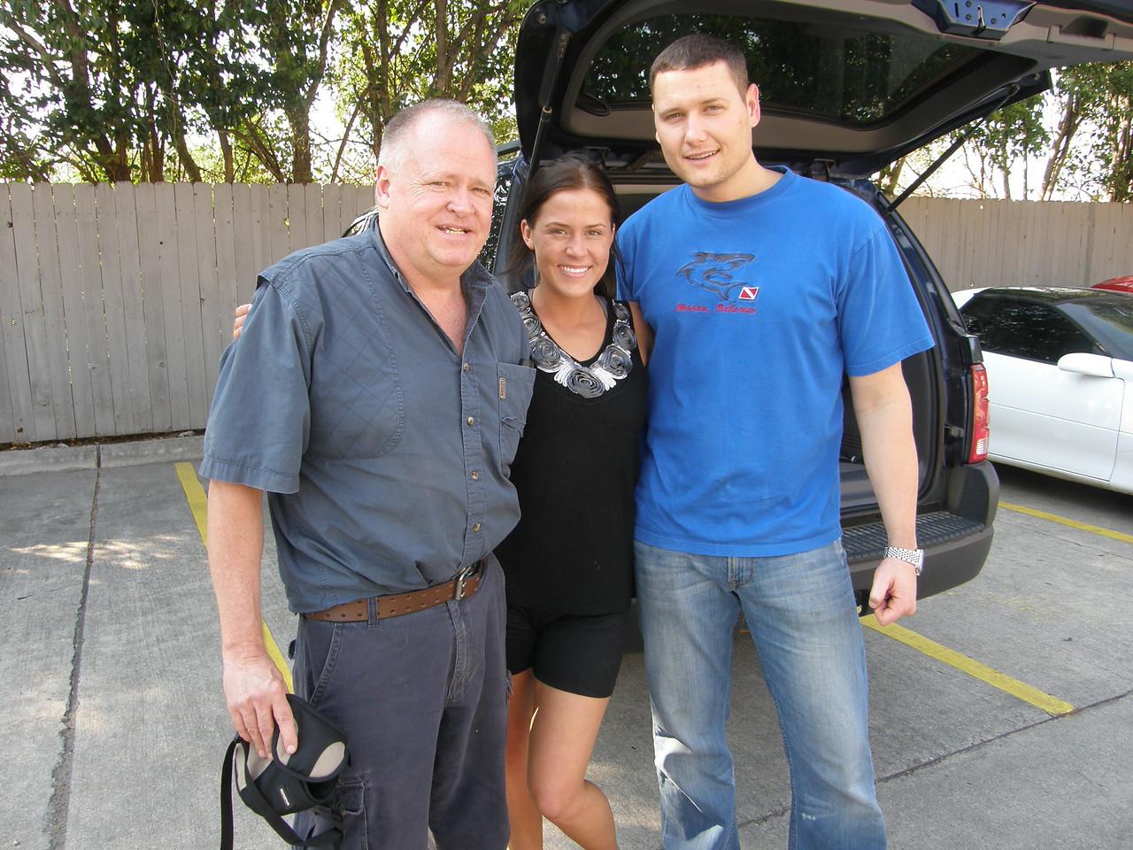 Ronnie (Dad), Sarah Jane, and Adam.
