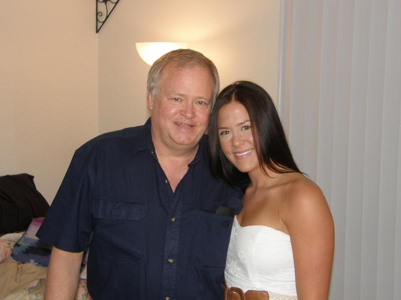 Dad and Sarah.  Happy graduation day!