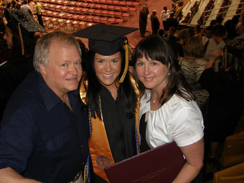 Dad (Ronnie), Sarah Jane, and mom (Mary Jane)