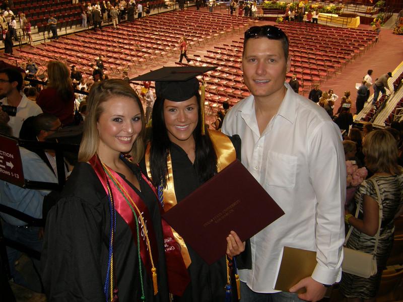 Kristina, Sarah, and Adam after the ceremony.