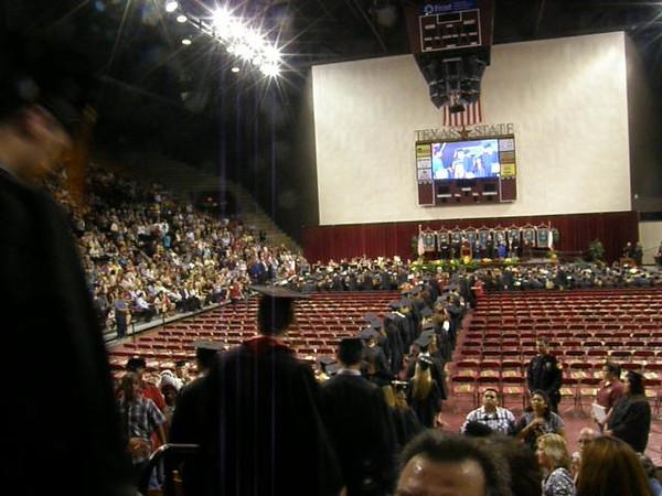 Graduates entering.