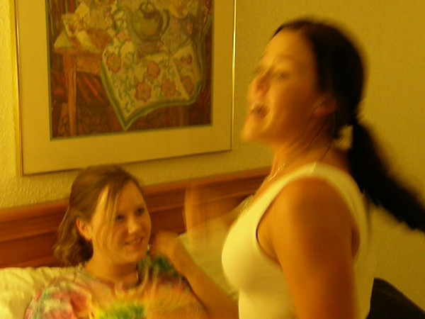 Best video clip.  Sarah is exuberant over fixing to graduate.  Katie looks on!  Great video clip.