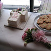 It was a sunny, nice day and the party was at Knapp's Landing.  Laura made cookies and chocolate pops.