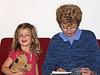 93 Hazel and Marian read Amelia Bedelia