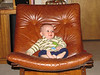 98 Karl on leather chair