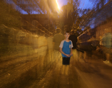 Ghost walking with Caleb