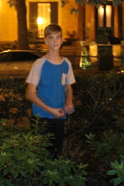 Caleb in the garden