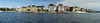 Stockholm waterfront. (Hand held panorama, letting the camera knit the images together.)