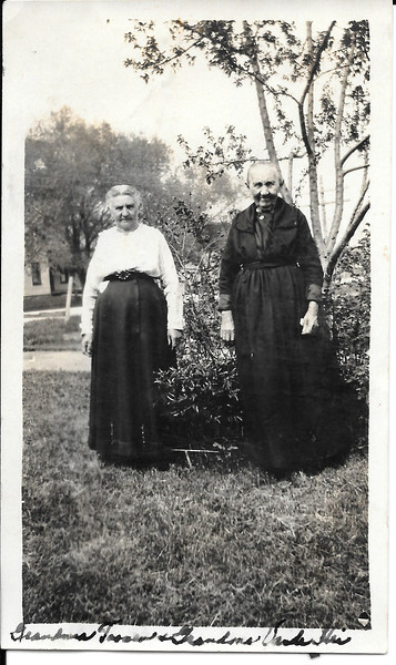 L: Grandma Catherine (Hartjes) Toonen<br /> R: Grandma Cornelia Vande Hei (Mother of Kate)