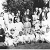 Left to Right:<br /> Back Row: ?, Fabian Heyrman, Leone Nackers, Florence-Tony Wellens, Alice-Francis Heyrman, Margaret-Albert Nackers, Grandpa Henry Heyrman, Ray-Eleanor Blahnik.<br /> Middle:  Antone-Etheldreda Cleereman,?,Great Grandma Catherine HartjesToonen, Grandma Mary Toonen Heyrman holding ?, ?<br /> Front: Fabian's daughter,?,Mary Jane (Dolly) Heyrman, ?,?,?,?,?, Roland Nackers, ?