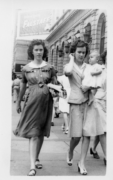 Me, my mother, and my Aunt Johnnie.  7/26/1944