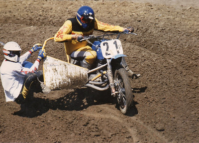 Gary Traverse (driver) & Eric Whitney (passenger) at unknown track circa April 1983