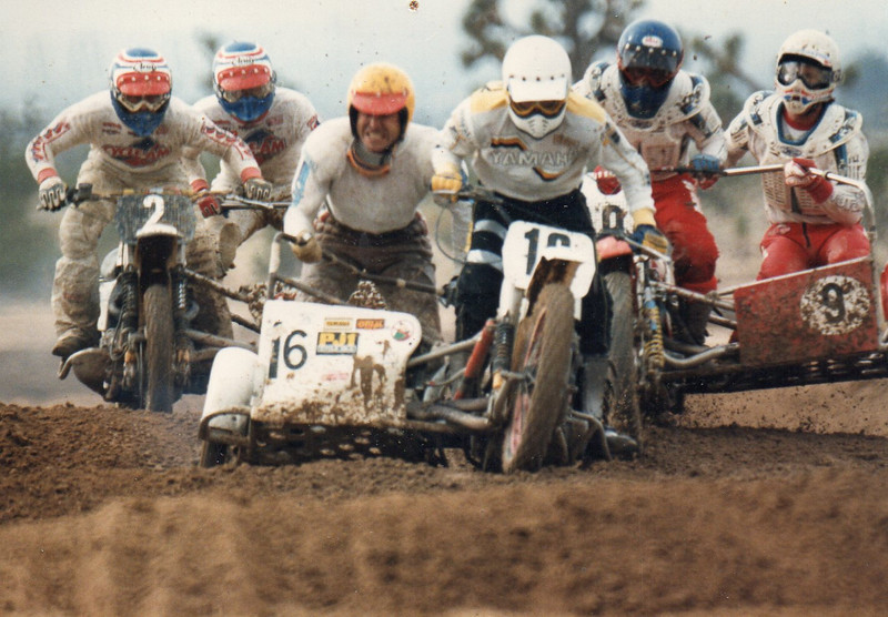 Eric Whitney (driver) and Paul Stimpson (passenger) sidecar racing unknown location unknown date