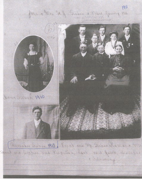 Mr. and Mrs. HJ Sieben and family 1911