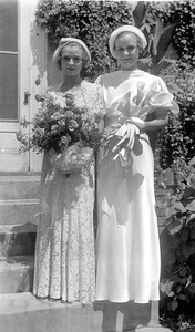 Galdys and Mayme. The wedding of Mayme Clara Bender and John Sylvester Galligan was officiated by Fr. Raymond Galligan at St. Mark's, Saint Paul, Minnesota, August 8, 1934