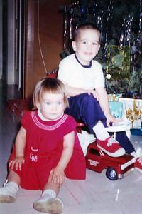 John and Kathy Kane, Christmas 1963. Gray Drive, Killeen, Texas