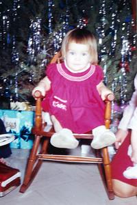 Kathy Kane, Christmas 1963. Gray Drive, Killeen, Texas