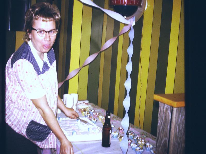 Carol in Aunt Helens basement (early 70's)