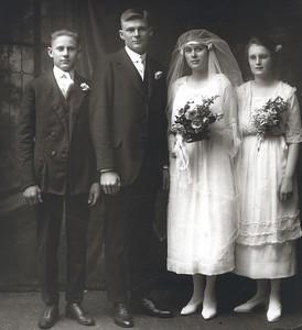 Roger Edberg, Evald Edberg, Hazel Edberg (was Munson), Mabel Munson (Bogden)