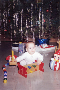 Kathy Kane (7 months). Christmas Day, 1962. Gray Drive, Killeen, Texas
