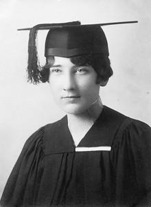 Evelyn Clare Galligan, John's sister, College of Saint Teresa, Winona, Minnesota, 1928