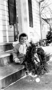 Mary Clare Galligan, 2 yrs old, 404 Bryant Avenue, Wadena, Minnesota, Winter 1938-39
