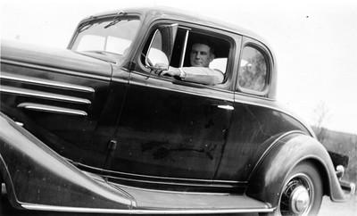 John Galligan, working for Lampert Lumber Company, ca. 1932 (location?)