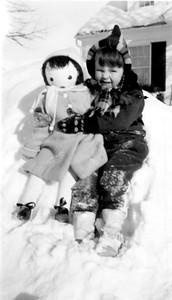 Mary Clare Galligan, 3 yrs old, 404 Bryant Avenue, Wadena, Minnesota, Winter 1939-40