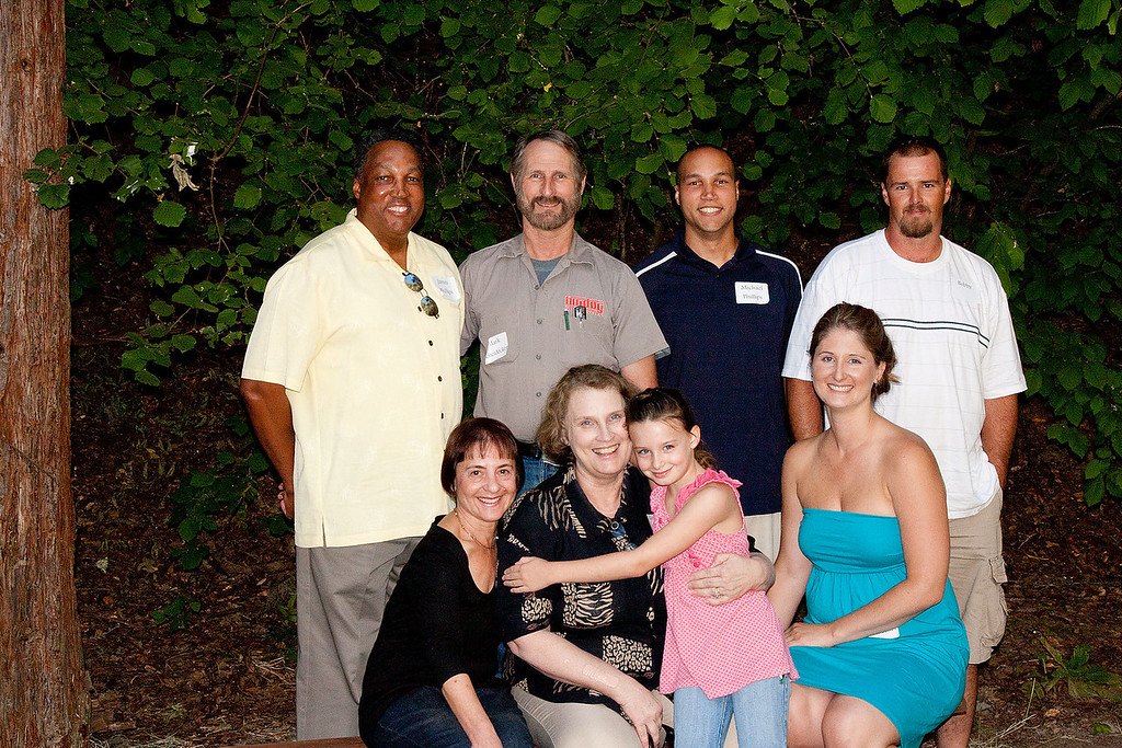 Back Row: James Phillips, Mark Scheidecker, Michael Phillips, Stephanie's Husband Bob. Front Row: Chynna, Garnie Scheidecker Phillips with Stephanie's Daughter, Emily.and Stephanie Scheidecker