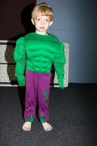The hulk pose!