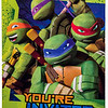 Teenage Mutant Ninga Turtles Invitation