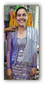 Amanda Minot's Wedding Dress for Myanmar