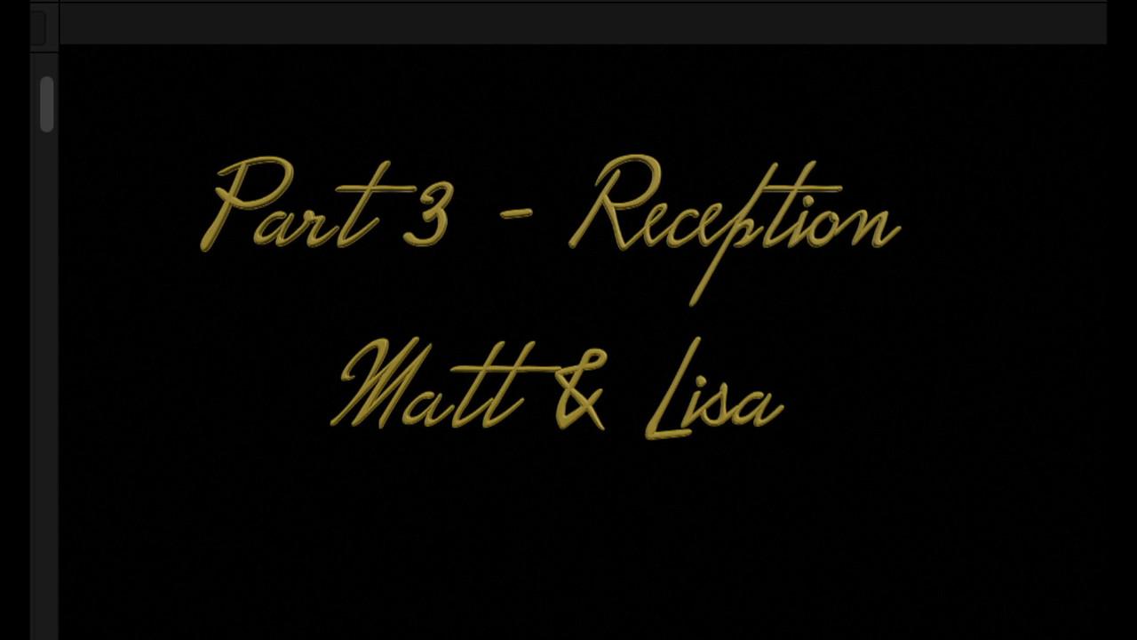 Part 3 - Reception, Lisa & Matt