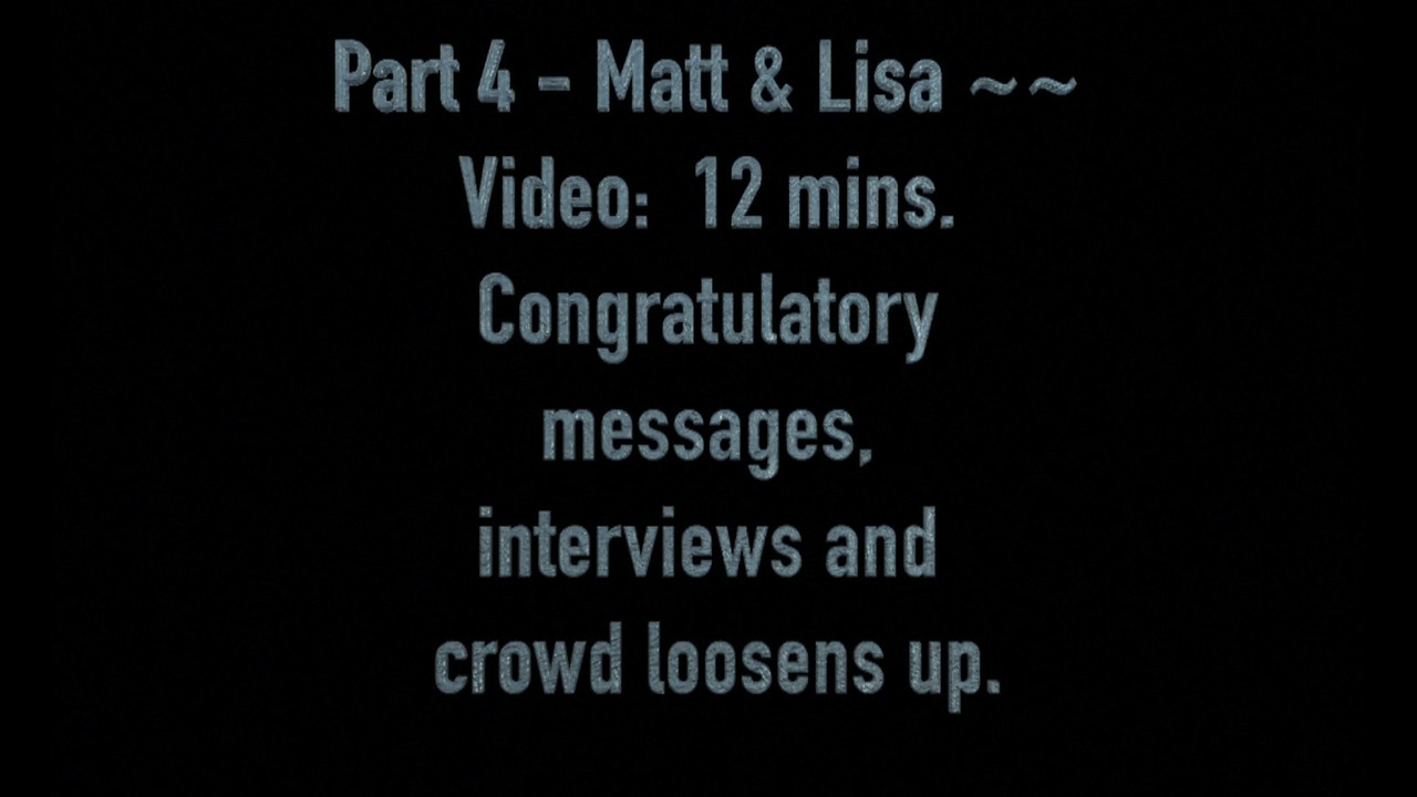 Part 4 - Lisa & Matt - Reception including congratulatory messages and interviews