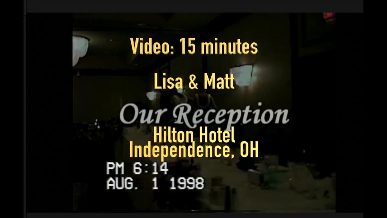 Lisa & Matt's Reception ~~  Aug. 1, 1998 ~~ Part 1