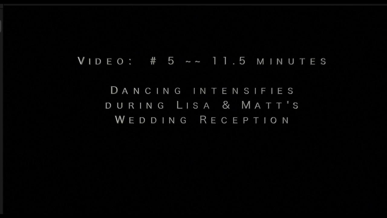 Video:  # 5 ~~ Matt & Lisa, dancing intensifies.  Video:  11.5 minutes