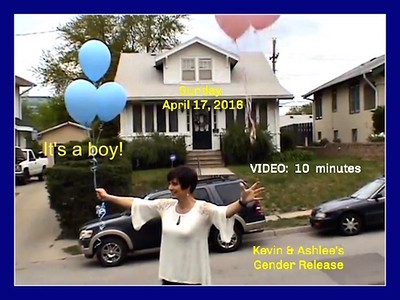 Kevin & Ashlee's Gender Release -- VIDEO:  9 minutes, 37 secs. - Click on image above and then on triangle and video will play.  Go to large screen by clicking on two arrows opposite of one another.