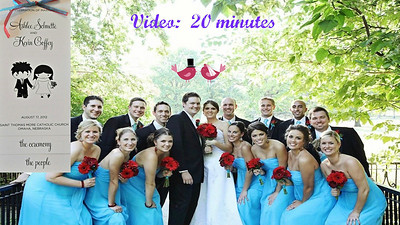 VIDEO:  20 minutes.  Click on above image and then the triangle and video will play.   Video of Coffey/Schuette Wedding - August 17, 2012