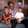 Uncle Rudy - Nola's dad - with his precious granddaughters, Tani and Teri Ann